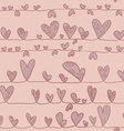 Hearts On Stripe vector image vector image