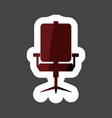 icon office chair colored sticker layers grouped vector image vector image