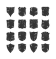 ig set of blank grunge classic shields vector image vector image