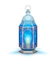 Illuminated lamp on Ramadan Kareem Generous vector image vector image