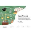 judge justice law court landing web page vector image