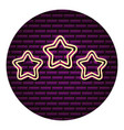 light stars decoration neon wall vector image