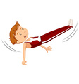 Man athlete doing gymnastics vector image