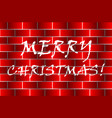 merry christmas - white and red vector image vector image