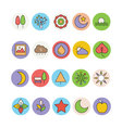 Nature Colored Icons 1 vector image