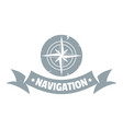 navigation logo simple gray style vector image
