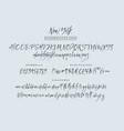 new york handwritten font script vector image vector image