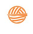 noodle bowl chopstick logo design template vector image