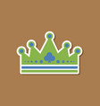 paper sticker on stylish background crown royal vector image vector image