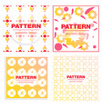 patterns boho backgrounds square and round design vector image vector image