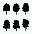 realistic tree silhouette collection vector image vector image