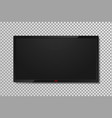 realistic tv screen with empty black display vector image