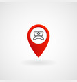 red location icon for hospital eps file vector image