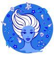 sea woman vector image