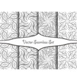 seamless decorative patterns vector image vector image