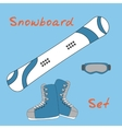 Set icon of winter sports equipment icons vector image