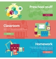 Set of flat design concepts for preschool vector image