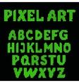 set of pixel letters vector image vector image