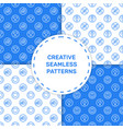 set seamless pattern vector image vector image