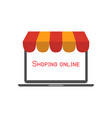 shopping online business concept internet store vector image vector image