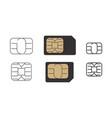 sim card symbol cellular gsm icon vector image