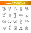 simple set of awards related line icons vector image vector image