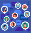 social networks users global chatting concept vector image vector image