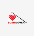 sushi lover logo vector image