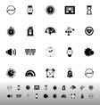 Time related icons on white background vector image vector image