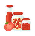tomato juice and pickled marinades icon for vector image vector image