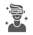 vr game glyph icon game and virtual vr glasses vector image vector image
