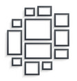 wall picture frame templates isolated on white vector image vector image