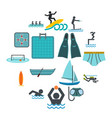 water sport flat icons vector image
