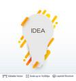white badge light bulb sticker vector image