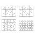 white puzzles separate parts vector image vector image