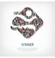winner people sign 3d vector image vector image
