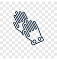 wiping gloves black pair concept linear icon vector image
