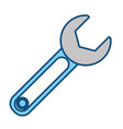 wrench tool isolated vector image vector image