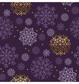Xmas snowflakes seamless pattern Gold and ink vector image vector image
