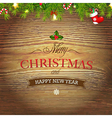 Xmas Wood Background With Christmas Toys vector image vector image