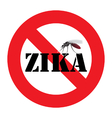zika mosquito warning sign vector image