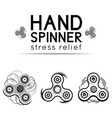 black and white hand spinner fidget toy vector image