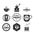 Set of coffee emblems badges logos labels vector image