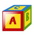 alphabet block for kid vector image