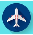 Airplane - icon Flat design vector image