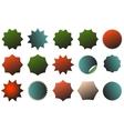 an image a colorful starburst dent set vector image