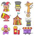 art circus object doodles