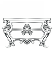 Baroque Imperial luxury style furniture vector image vector image