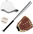 Baseball equipment vector image vector image