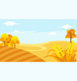 beautiful landscape with blue sky vector image vector image
